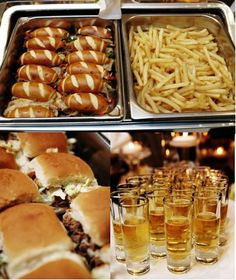 Sandwiches, Sliders, and Shooters...nothing better than a late night snack!