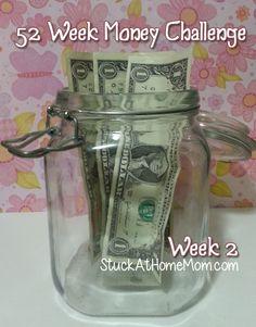 52 Week Money Challenge Week 2 #52weekmoneychallenge - StuckAtHomeMom.com