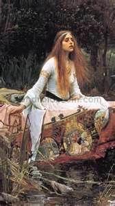 Lady of Shallott Pre raphaelite art -