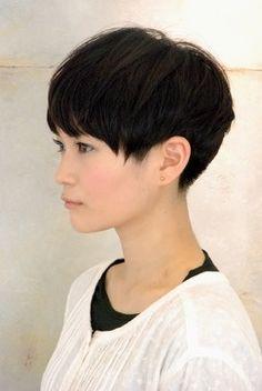 pixie cut long bangs thick hair - Google Search