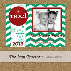 Chalkboard Christmas Card  Photo Christmas Card  by TheIronTractor, $9.00