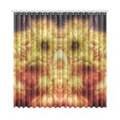 "Yellow Chrysanthemums Window Curtain 52""x108""(Two Piece)."