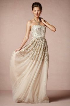 Glimmering gold gown by BHLDN