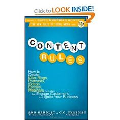 My first book - Content Rules - written with the amazing Ann Handley.