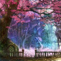 Enchanting hidden castle