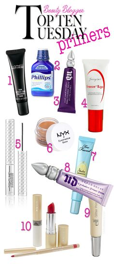 the best #makeup primers for eyes, face, lips and lashes