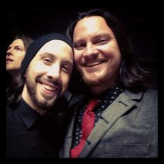 Tim Foust with Avi Kaplan from Pentatonix and Adam Rupp Home Free's beatboxer photobomber extraordinaire.