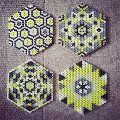 Coaster set hama beads by sjfulty