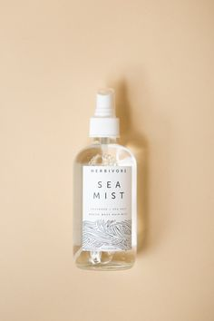 Sea Mist. Sea Salt Hair and Body Spritzer. 100% Natural. Large 8 oz bottle. By Herbivore Botanicals. Inspired by oceanic breezes, this 100% natural spray is a 2 in 1 product for hair and skin. ++ For