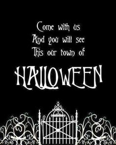 Free Halloween Town Printable   If You Love The Nightmare Before Christmas,  You Will Love Displaying This Halloween Town Printable In Your Home For ...