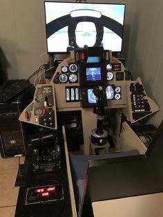 Please show off your pit. Flight Simulator Cockpit, Gaming Room Setup, Gaming Chair, Ejection Seat, New Aircraft, Airplane Photography, Flight Deck, Cabin Design, Computer