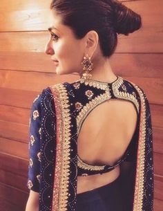 Blouse back neck designs have been a rage. Here are 54 stylish back neck blouse designs, Pick the best blouse to complement your designer saree. Blouse Back Neck Designs, Sari Blouse Designs, Designer Blouse Patterns, Bridal Blouse Designs, Blouse Styles, Saree Styles, Blouse Designs Catalogue, Lehenga Style, Lehenga Blouse