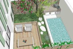 Piscina Diy, Small Pool Design, Mini Pool, Water Features In The Garden, Small Backyard Pools, Plunge Pool, Outside Living, Pool Landscaping, Pool Designs