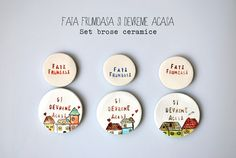 Creative People: Happy spring trinkets made by Simcute Faia, Happy Spring, Creative People, Wonderful Things, Decorative Plates, Arts And Crafts, Projects, Handmade Ceramic, Brooches