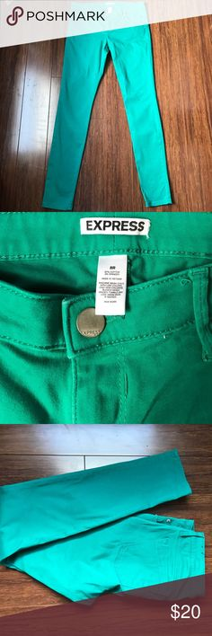 Express skinny jeans Express real green skinny jeans. 30 inch inseam Express Jeans Skinny