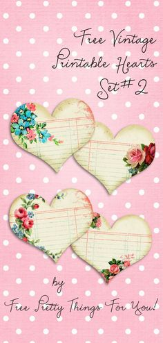 Vintage Printable Hearts Set No. 2