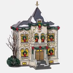 """Department 56: Products - """"Frost University"""" - View Lighted Buildings"""