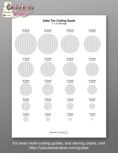 Find more cake cutting guides and serving charts at http://calculatedcakes.com/guides