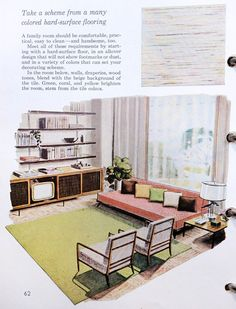 Vintage Better Homes & Gardens Decorating Book: (Fab) living room.