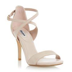 ea5766814 Buy Dune Madeleine Strappy Cross Strap Heeled Sandals Online at  johnlewis.com Strappy Sandals Heels