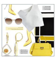 """""""Yellow Pick"""" by jomashop ❤ liked on Polyvore featuring River Island, Chicwish, Salvatore Ferragamo, yellow and black"""