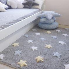 Alfombra Lorena Canals Gris estrellas tricolor azul