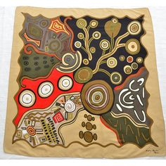 Aborigine-inspired silk scarf available at Divine-Style.com
