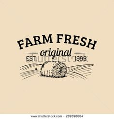 Vector Retro Farm Fresh Logotype. Vintage Farm Logo. Organic Farm ...