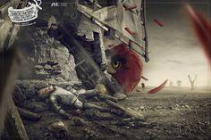 GENIAL: Angry Bird mata Dom Quixote em campanha que defende livros.