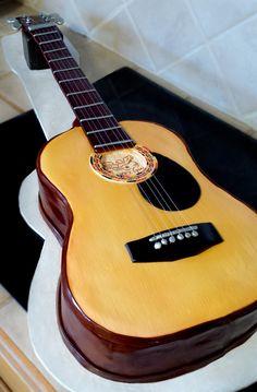 Guitar Cake by atrotter719.deviantart.com on @DeviantArt