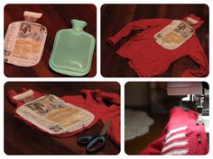 Upcycle a turtleneck into a hot water bottle cosy