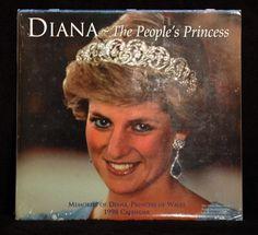 Collectible 1998 Princess Diana The People's Princess Mint Sealed Calendar 12x24