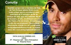 Encontro de Fãs Enrique Iglesias SP e RJ