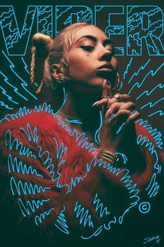 Kristof's Notes: The font and illstration of this really vibes with me. I feel like its the respresentation of energy. This is how I would visualize energy. kali uchis - Buscar con Google