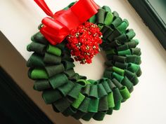 Door wreath out of felt by veronicard  #wreath #DIY