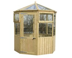 Redwood and Cedar Greenhouse Octagonal 64 Outdoor Buildings, Outdoor Structures, Sheds, Fence, Gazebo, Cabin, Traditional, Garden, Kiosk