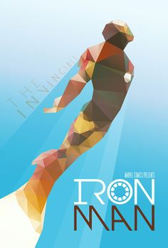 Alternative movie poster for Iron Man by Ed Burczyk #IronMan