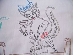 Vintage Cats Kittens Hand Painted Pillowcase by shabbyshopgirls, $24.99
