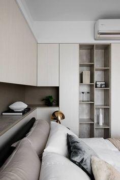 62 Ideas For Bedroom White Furniture Decor Beds Interior, Home Decor Bedroom, Apartment Interior, White Furniture Decor, White Bedroom Furniture, Modern Bedroom, Small Bedroom, Interior Design Bedroom, Minimal Bedroom