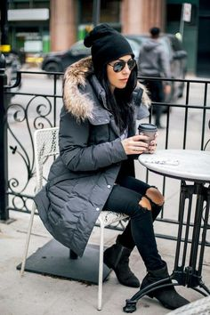 winter outfits new york Winter streetwear myfashav - winteroutfits Edgy Outfits, Winter Fashion Outfits, Fall Winter Outfits, Autumn Winter Fashion, New York Winter Outfit, Winter Wear, New York Winter Fashion, Mens Winter, Cute Outfits