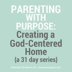 I'm joining in with hundreds of other writers online in The Nester's 31 Day Writing Challenge. This is my first time participating and I'm excited to share with you this series on Parenting With Purpose: Creating a God-Centered Home. As we begin, there are a 5things I'd like you to know about me, my …