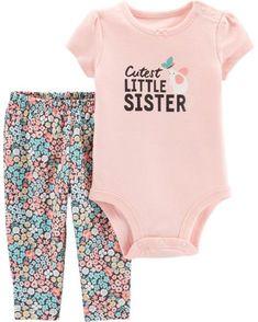 6a9dc06b234fe 2-Piece Little Sister Bodysuit Pant Set from Carters.com. Shop clothing &