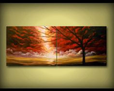 art abstract painting dr. seuss tree canvas wall art by mattsart