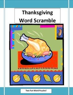 Thanksgiving Word Scramble - two fun word puzzles!