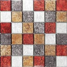 Autumn Red Black Brown Hong Kong Foil Mix Glass Mosaic Tiles Sheet by Grand Taps Mosaic Tile Sheets, Mosaic Wall Tiles, Mosaic Glass, Mosaic Bathroom, Solid Surface, Hearth Tiles, Color Tile, Black And Brown, Red Black