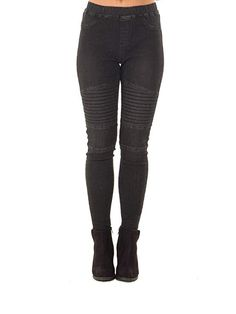 82c212a8f70 Xudom Womens Skinny Punk Rocker Jeans High Waist Denim Stretchy Cargo Pants  Black US 12-