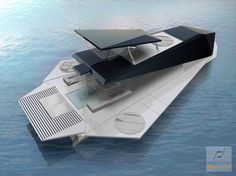 Origami Yacht - Now here is a dramatic sea vessel! The Origami Yacht actually contains walls that fold for a full-on ocean experience. Fabio Federici designed this. Yacht Design, Boat Design, Origami Boat, Folding Boat, Floating Architecture, Float Your Boat, Yacht Interior, Cool Boats, Yachts