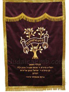 Parochet / Torah Ark Cover - Tree of Life Design Kodesh High Holidays, Jewish Girl, Torah, Life Design, Tree Of Life, Hanukkah, Symbols, Ark, Crafts