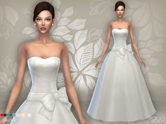 Wedding dress 04 for The Sims 4 by BEO Sims 4 Wedding Dress, Long Wedding Dresses, Bridal Dresses, Wedding Gowns, Maxis, Sims 4 Tsr, Sims 4 Mm Cc, Sims 4 Clothing, Female Clothing