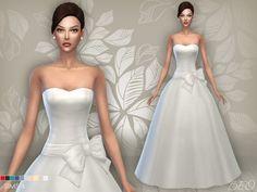 BEO Creations: Weddin dress 4 • Sims 4 Downloads